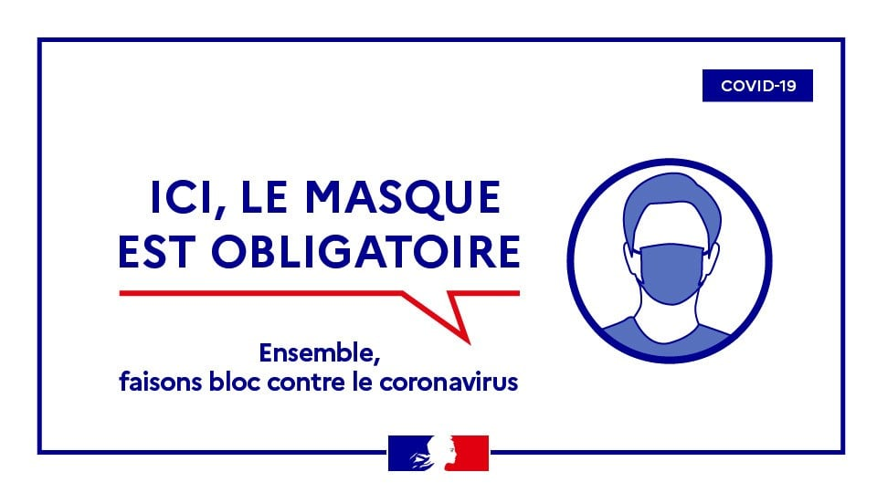 Masque obligatoire jusqu'au 30 juin 2021 au moins.