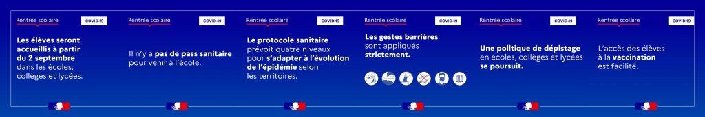 Protocole sanitaire - rentrée scolaire 2021 - Chamigny